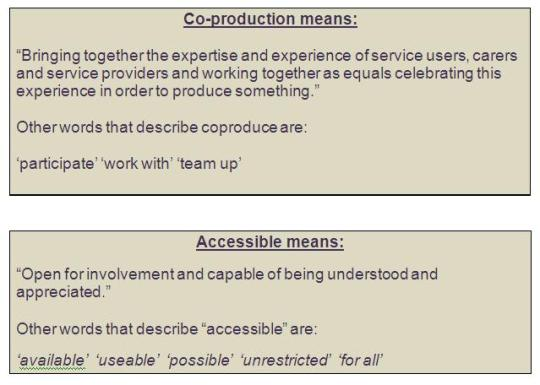 coproduced accessible